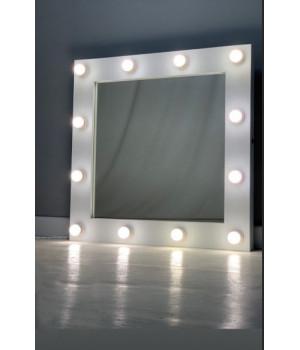 Зеркало в гримерную с подсветкой 80х80 см 12 ламп